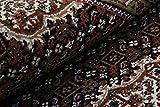 Nain Trading Indo Täbriz 237x172 Orientteppich Teppich Dunkelgrau/Dunkelbraun Handgeknüpft Indien - 5