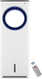 WEHOLY GY- Ventilador sin Hojas Ventilador de Aire Acondicionado Suelo Inteligente Refrigeración de Ciclo de Doble Uso 110w Móvil silencioso, para Dormitorio de Oficina en el hogar (Blanco)