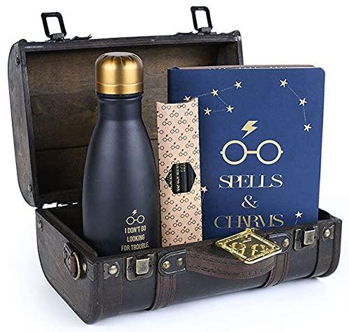 Pyramid International-GP85536 Harry Potter-Cassettiera Hogwarts Trouble Finds Me con Licenza Ufficiale, Colore Marrone, GP85536