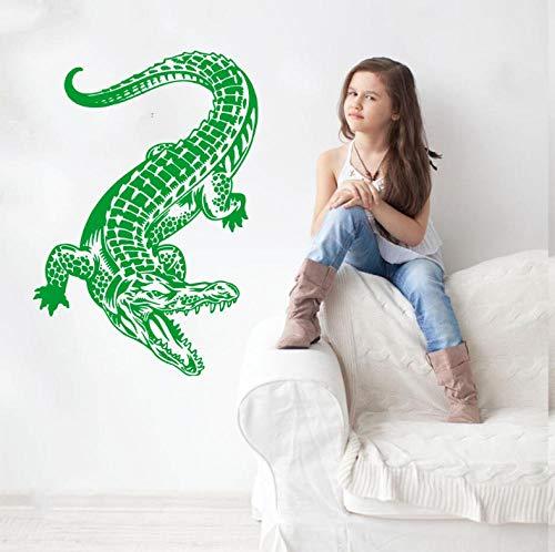Muursticker Krokodil Art Sticker Gezond Grappig Huis Slaapkamer Decor Gift Verwijderbaar Eet Slaap Spelen Kinderen Kamer Game 42X45cm