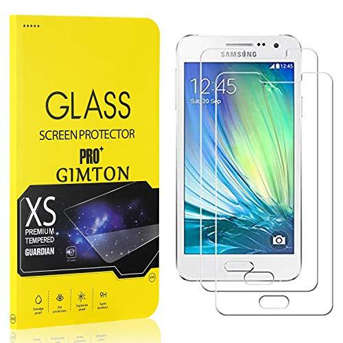 GIMTON Displayschutzfolie für Galaxy A3 2015, 9H Härte, Anti Bläschen Displayschutz Schutzfolie für Samsung Galaxy A3 2015, Einfach Installieren, 2 Stück