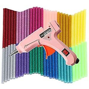 Mini Pistola de Silicona 20w, 60 pcs Barras de Pegamento Alta Temperatura, Bricolaje Reparaciones Rápidas, Reparaciones Rápidas y en el hogar, oficina