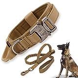 Collare Tattico Per Cani-Corda Elastica Militare Con Resistente...