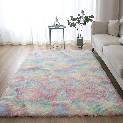 ruggito Soft Rugs Shaggy Floor Area Rug for Living Room Kids Room Home Decor Carpet, Faux Fur Sheepskin Mat for Girl's Bedrooms(X-Large)