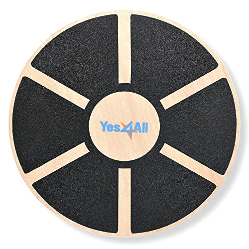 Yes4All Wooden Wobble Balance Board -...