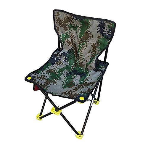BU-SOH Sillas Silla de la Pesca Portable Durable Plegable al Aire Libre Sillas Camuflaje Pesca heces de Color Verde Sillas Plegables (Color : Green, Size : 32cm)