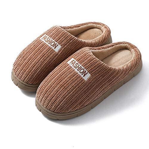 Nwarmsouth Zapatillas Hombre Mujer Invierno Memory,Inicio Lindos Zapatos de algodón, Zapatillas de Lana de Suela Gruesa de Dibujos Animados-marrón_44-45,Zapatos de Zapatillas de Lujo para Hom