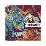 Halestorm Album Cover - Reanimate The Covers EP Canvas Poster Bedroom Decor Sports Landscape Office Room Decor Gift 12×12inch(30×30cm) Unframe-style1