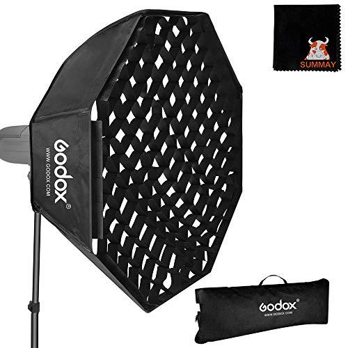 GODOX Softbox 120cm 47in Achteckige Softbox Honeycomb Gitter Softboxen Bowens Halterung für Blitzgerät Speedlite Fotografie LED Video Studio Porträt (SB-FW120CM)