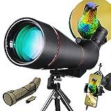 LAKWAR 25-75x100mm Telescopios Terrestres de detección con para observación de aves, telescopio monocular a prueba de agua y con prisma de porror BAK4 completamente multicapa con bolsa protectora