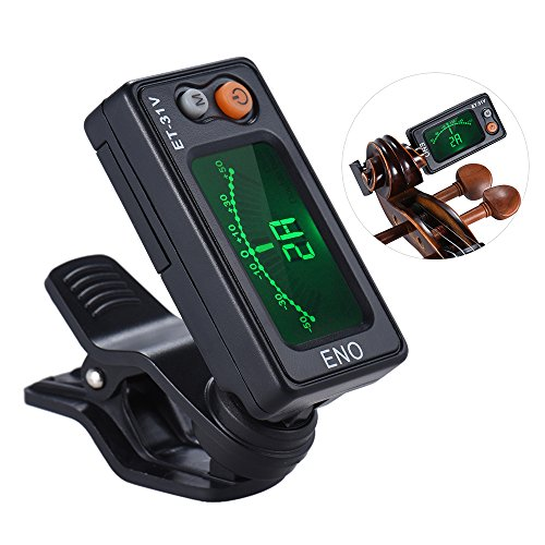 ammoon eno ET-31V Multifunktions-Clip-On Tuner Automatischer Stimmmodus für Violine Viola Cello Kontrabass chromatisch mit LCD-Display