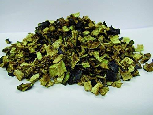 Bio Auberginen Stückchen getrocknet 1kg Fairtrade Melanzani Gemüse, Rohkost, für Smoothies, Suppe, Salat und als Snack, aromatisch süßlich, gelblich/grünlich/bräunlich 1000g