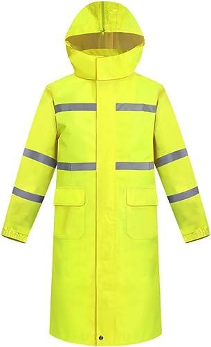 Liuzecai Imperméable Multifonctionnel Hommes Parapluie pour avertisseur de Circulation Jaune pour Hommes, Jaune Fluorescent pour Adultes (Taille   M)