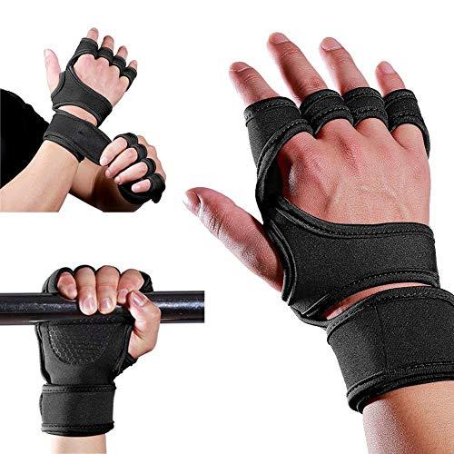 GCNZXCO uantes de fitness profesionales 2 Pares de entrenamiento Guantes de entrenamiento, protector de palma de mano, para levantamiento de pesas, colgante, pull ups gimnasio guantes de entrenamiento