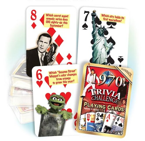 Flickback 1970 Trivia Playing Cards: 50th Birthday