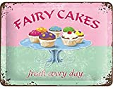 FAIRY CAKES - fresh every day Blechschild 30 x 40 cm Art: