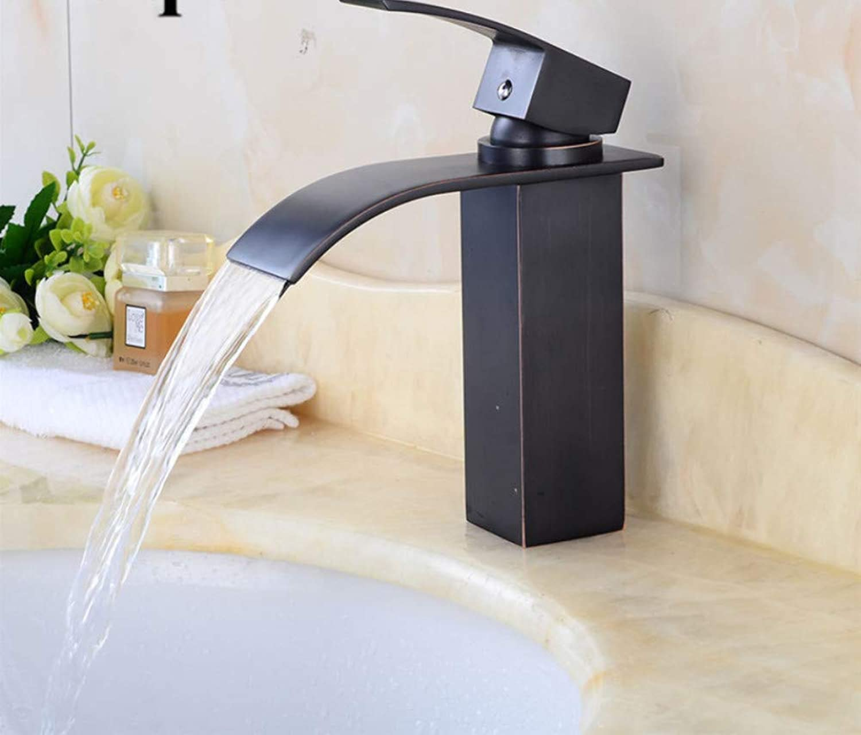 Cxmm Wasserfall Wasserhahn Antike Bronze Waschbecken Wasserhahn Messing Wasserhahn Heie und Kalte Waschbecken Mischbatterien Toilette Mischer