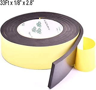 High Density Foam Insulation Tape Adhesive, Seal, Doors, Weatherstrip, Waterproof, Plumbing, HVAC, Windows, Pipes, Cooling, Air Conditioning, Weather Stripping, Craft Tape (33Ft x 1/8