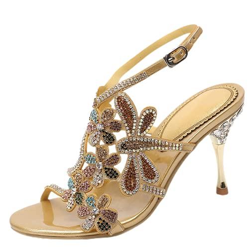 Zapatos de boda para mujer con diamantes de imitación de moda, sandalias...
