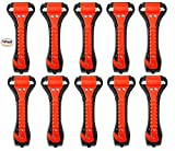 10 PCS Car Safety Hammer Emergency Escape Tool Auto Car Window Glass Hammer Breaker and Seat Belt Cutter Escape 2-in-1 for Family Rescue & Auto Emergency Escape Tools