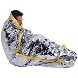 Emergency Mylar Space Sleeping Bag | Survival Kit Blanket Shelter Tent | Camping Hiking Backpacking | 84 inches x 36 inches - Silver by Marathon Housewares