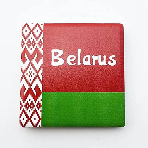 Flagge Weißrussland Kühlschrankmagnet 3D Polyresin Touristische Stadtreise City Souvenir Collection Geschenk Starker Kühlschrank Aufkleber