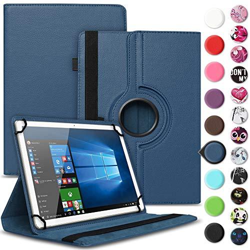 UC-Express Tablet Tasche kompatibel für Wortmann Terra PAD 1004 Universal Schutzhülle aus Kunstleder Hülle Tasche Standfunktion 360° Drehbar Cover Hülle, Farbe:Blau