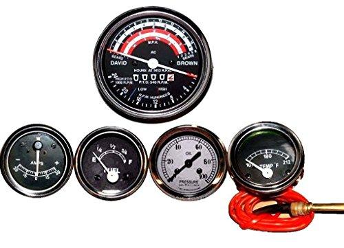 Tacómetro de tractor David Brown + temperatura + presión de aceite + amperímetro + juego de medidor de combustible