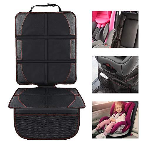 Autositzauflage Kindersitzunterlage, Nasharia Auto-Kindersitzunterlage wasserabweisend mit dicksten Polsterung zum Schutz vor Kindersitzen Isofix geeignet, Autositzschutz für Textil- und Ledersitze