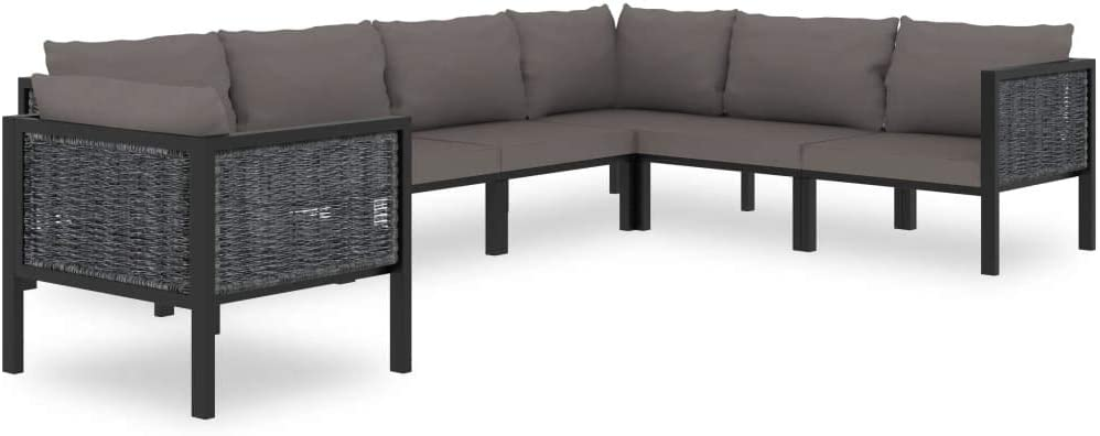vidaXL 7 Piece Garden Lounge Set Outdoor Max 55% OFF with Bal Patio Cushions Selling and selling