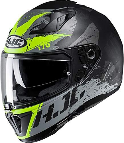 HJC Helmets Motorradhelm HJC i70 RIAS MC4HSF, Schwarz/Grau/Neongelb, L 14947409