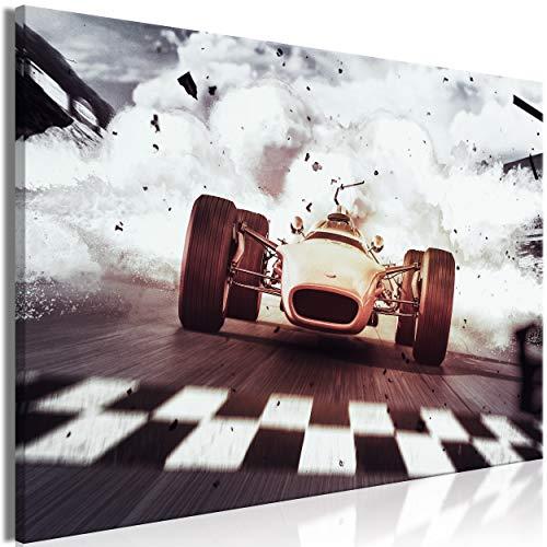decomonkey Bilder Abstrakt Auto 120x80 cm 1 Teilig Leinwandbilder Bild auf Leinwand Vlies Wandbild Kunstdruck Wanddeko Wand Wohnzimmer Wanddekoration Deko Sport Rennen