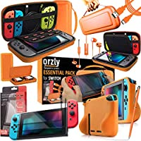 Orzly Switch Console + Screen Protector + USB Cable Accessories Kit