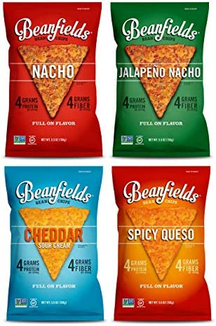 Beanfields Bean Chips High Protein and Fiber Gluten Free 4 Flavor Vegan Cheese Pack Jalape o product image
