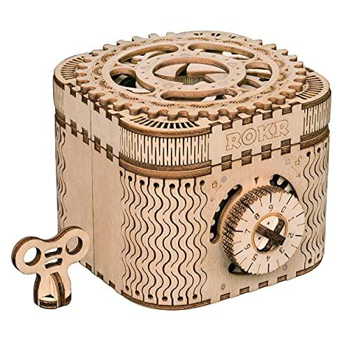 Treasure Box Mechanische Zahnräder LK502 158 Teile 3D Holzpuzzle