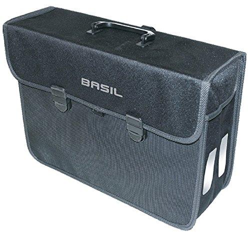 Basil Gepäckträgertasche Malaga Fahrradtasche, Black, 40 x 16 x 31 cm
