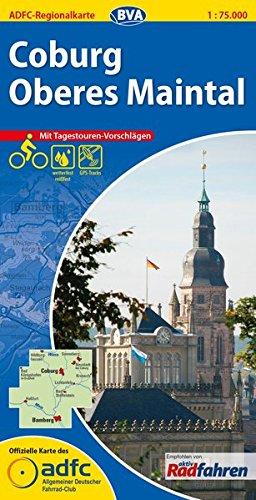 ADFC-Regionalkarte Coburg/Oberes Maintal mit Tagestouren-Vorschlägen, 1:75.000, reiß- und wetterfest, GPS-Tracks Download (ADFC-Regionalkarte 1:75000)