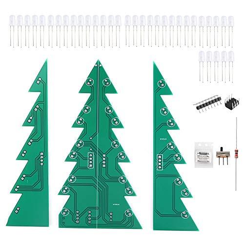XQAQX Adorno de Navidad de Bricolaje, módulo LED de árbol de Navidad, módulo de Placa de Circuito Impreso de Bricolaje Kit de Adorno de LED de árbol de Navidad para decoración Festiva