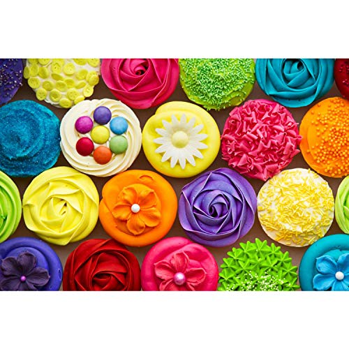 500 Piece Puzzles for Adults - Assorted Cupcakes Jigsaw Puzzle 500 Pieces Gift