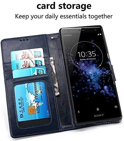 Porte Carte Credit Ticket Metro Fonction Stand Video , Fermeture Magnetique LOKAKA Coque pour Xiaomi Redmi Note 8 Pro Coque,Pochette Housse Etui - Rouge ,