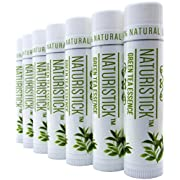 All Natural Lip Balm Gift Set by Naturistick, Best Healing Chapstick for Dry, Chapped Lips, With Aloe Vera, Vitamin E, Coconut Oil. For Men, Women and Kids. Made in USA.