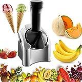 Nueva máquina para hacer helados Soft Serve Fruit, máquina para hacer helados en casa Haga deliciosos sorbetes de helado y máquina para hacer yogurt helado con temporizador de cuenta regresiva