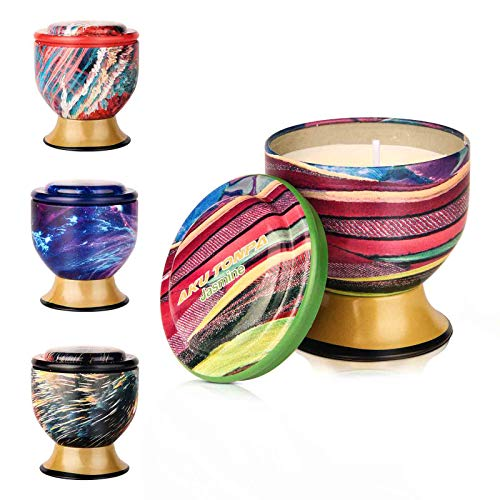 Aku Tonpa Paquete de 4 velas perfumadas de 115 gramos, cera de soja, velas aromáticas, regalo para mujeres (vainilla, lavanda, limón, jazmín)