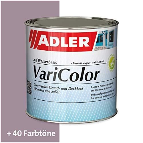 ADLER Varicolor 2in1 Acryl Buntlack für Innen und Außen - 375 ml RAL4009 Pastellviolett Violett - Wetterfester Lack und Grundierung für Holz, Metall & Kunststoff - Seidenmatt
