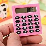 SuperTOOL Mini calcolatrice Studente Mini Calcolatrice Elettrica Rosa Portatile per Scuola Primaria Casa Ufficio 50mm* 45mm* 8mm