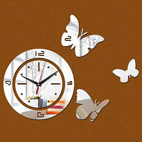 WDQTDY Reloj Relojes de pared Pegatinas Reloj de cuarzo Moderno Diy 3D...