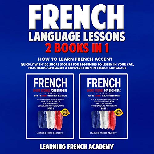 French Language Lessons: 2 Books in 1 Titelbild