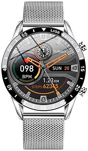 Reloj de movimiento inteligente Bluetooth llamada podómetro presión arterial y detección de frecuencia cardíaca seguimiento de actividad-B