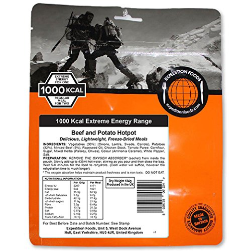 EXPEDITION FOODSexpeditionfoods.com Beef and Potato Hotpot | Freeze-Dried Camping & Hiking Food| Double Serving | 1000kcal Meal