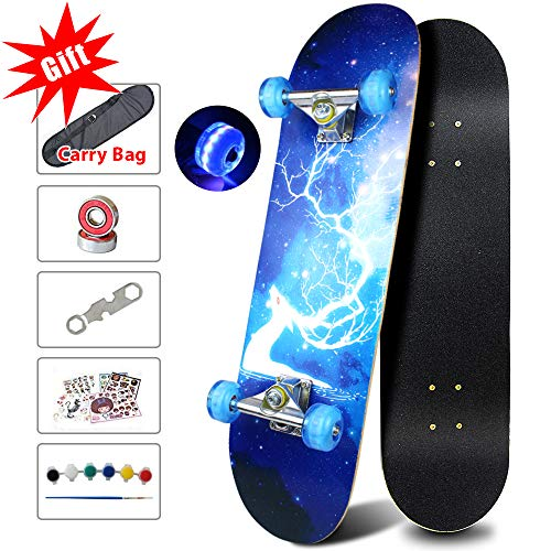 Easy_Way Complete Skateboards- Standard Skateboards with Colorful Flashing...